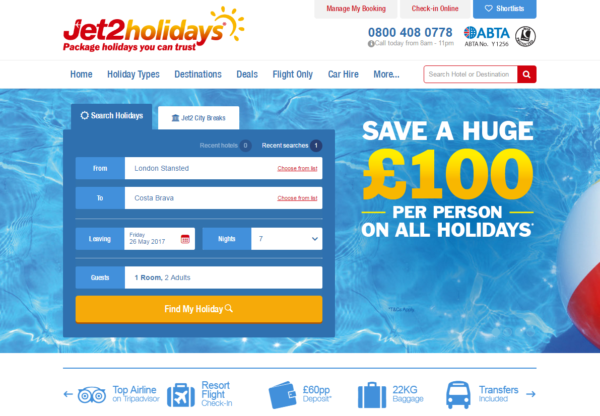 Jet2holiday offers