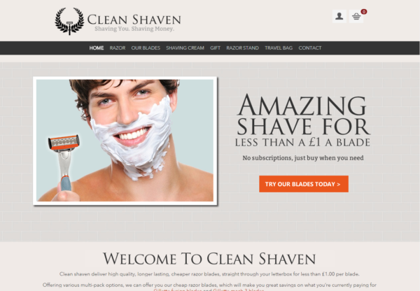 New Advertiser – Clean Shaven!