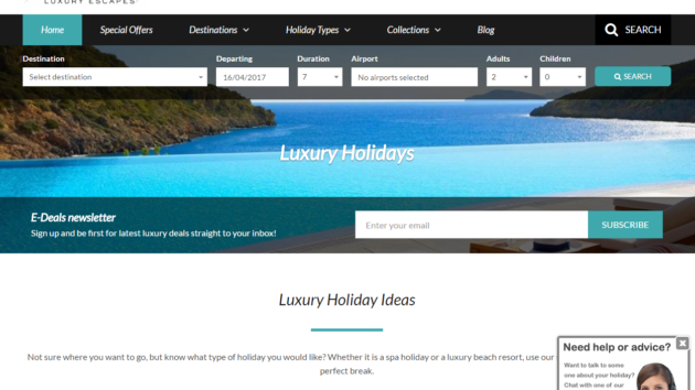 New Advertiser – Inspired Luxury Escapes!