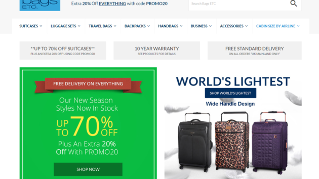 New Advertiser – Bags Etc!