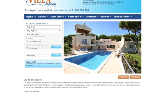 New Advertiser – The Holiday Villa Company