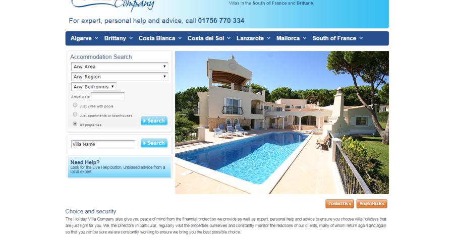 New Advertiser – The Holiday Villa Company