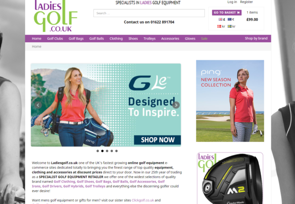New Advertiser : Ladies Golf!