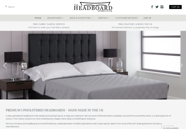 New Advertiser – The Headboard Store!