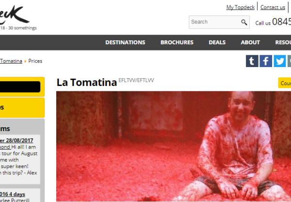 TopDeck Travel: La Tomatina festival & Oktoberfest offers!