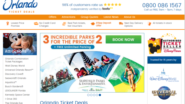 New Advertiser : Orlando Ticket Deals!