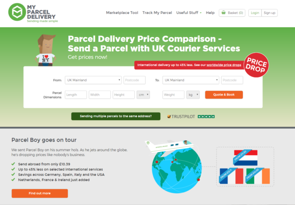 New Advertiser – My Parcel Delivery!