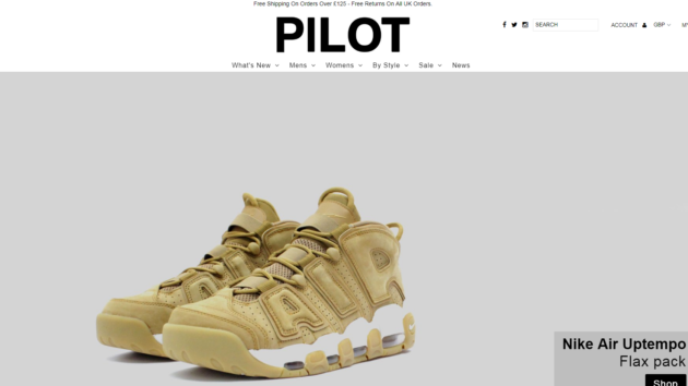 Pilot Netclothing are now live on Affiliate Future!