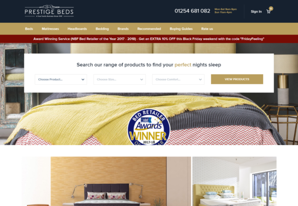 Prestige Beds are now live on Affiliate Future!