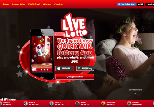 New Advertiser – Live Lotto!