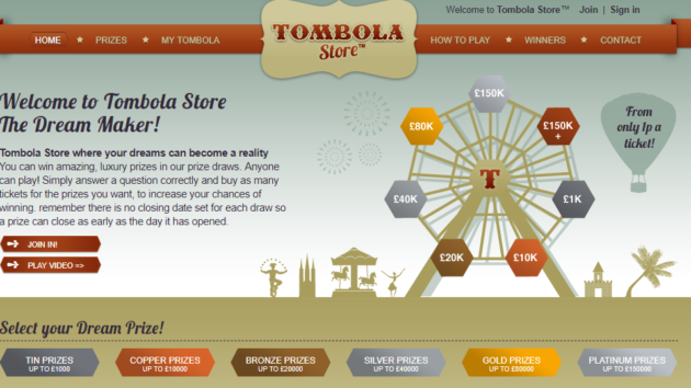 10% Commission on Tombola Store's Affiliate Programme!